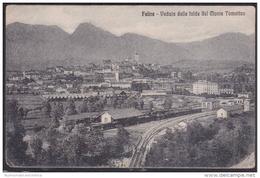 Feltre Stazione Ferroviaria Treni Cpa Viaggiata 1921 X Asti Gares Ferroviaires Railway Stations Bahnhöfe - Belluno