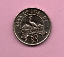 UGANDA - 50 Cents 1976 ***Alto Valor Catalogo - Uganda