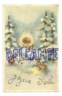 Joyeux Noël. Petit Ange Dans La Forêt. Lapins, Oiseaux, étoiles. Coloprint Spécial 5186 - Non Classés