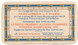 Carte Parfumée - L.T. PIVER, Paris - Parfumée Avec L'Aventurine, Calendrier 1914 - Anciennes (jusque 1960)