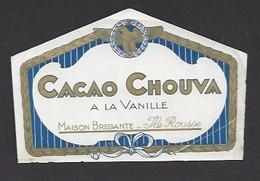 Etiquette De Cacao Chouva à La Vanille  -  Maison  Brégante  Ile Rousse Corse (20) - Etiquettes