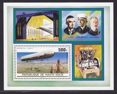 HAUTE-VOLTA BLOC N°    5AN ** MNH Neuf Sans Charnière, TB (CLR378) Anniversaire Du 1er Zeppelin - 1976 - Obervolta (1958-1984)