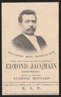 Edmond Jacqmain - Industriel ( Falisolle 1861 - Moustier 1903 ) - Décès