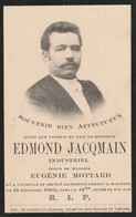 Edmond Jacqmain - Industriel ( Falisolle 1861 - Moustier 1903 ) - Overlijden