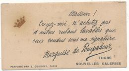 Carte Parfumée - Marquise De Pompadour, Nouvelles Galeries, TOURS - Carte En L'état - Vintage (until 1960)