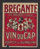 Etiquette  D'Apéritif Au Quiquina  -  Vin Du Cap  -  Brégante  Ile Rousse Corse (20) - Etiquettes