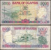 UGANDA - 5000 Shillings 1993 P# 37a Africa Banknote - Edelweiss Coins - Ouganda