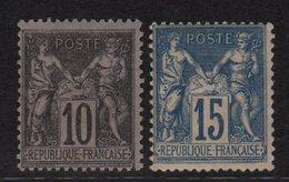 N°101 + N°103 - Type Sage - ** Neufs Sans Charniere Tres Legers Defauts De Gomme - Cote 85€ - 1898-1900 Sage (Type III)