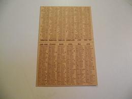 Calendrier, 1896, Sans Publicité - Kalenders