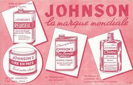 Buvard : JOHNSON La Marque Mondiale - Produits Ménagers