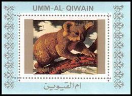 0205/ Umm Al Qiwain Deluxe Blocs ** MNH Michel N° 1545 Koala Animaux - Animals - Stamps