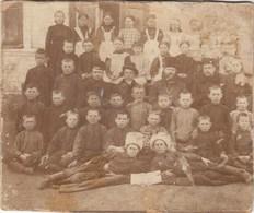 "RUSSIA.  A PHOTO. ""PRIEST WITH CHILDREN. COSSACKS. SCHOOL. .*** - Russia"