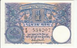Bhutan 1 Ngultrum 1974 Pick 1 UNC - Bhoutan