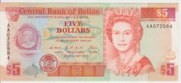 Belize 5 Dollars 1990 Pick 53a UNC - Belize