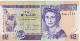 Belize 2 Dollars 2003 Pick 66a UNC - Belize