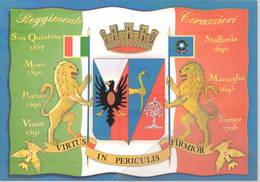 RegGimento Corazzieri Régiment Cuirasses - Staffarda - Mons - Torino - Marsaglia - Vinon Cartolina Moderna - 1939-45