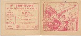 Calendrier National De L'Emprunt, 1918 - Prouvé - Calendriers