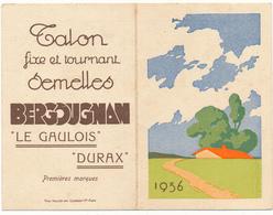 Calendrier 1936 - Talons Et Semelles Bergougnan - Calendriers