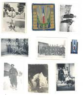 Lot 7 Photos + Insigne Tissu + Insigne Métal C.J. F. ( Chantiers De Jeunesse Française ) - Personnes Anonymes