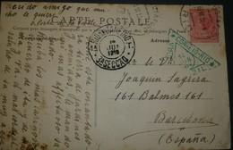 O) 1919 BRAZIL, LIBERTY HEAD SCT 210 100r, TO SPAIN, XF - Rio De Janeiro