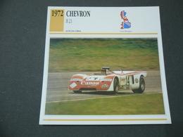 CARTOLINA CARD SCHEDA TECNICA  AUTO  CHEVRON B 21 - Autres Collections