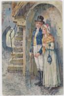 """Carte Gauffrée Publicitaire """"au Pauvre Jacques"""" Avril  (lot Pat 29) - Publicité"""