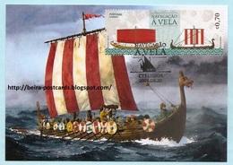 PORTUGAL - SETTING SAIL SHIPS VIKINGS MAXIMUM CARD - VOILE BATEAUX CPM - Maximumkaarten