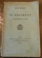 Historique Du 74e Régiment D'Infanterie De Ligne - Livres