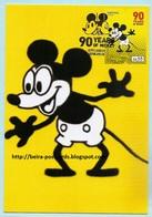 PORTUGAL - MICKEY 90 YEARS WALT DISNEY MAXIMUM CARD - Maximumkaarten