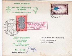 Gullegem : Ballonpost / Met Handtekening Van De Piloot - Marcophilie
