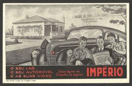 Portugal Buvard Assurance Companhia De Seguros Império Automobile 1948 Très Rare Blotter Insurance Império Car Very Rare - Banque & Assurance