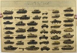 Poster Campaña De Normandía. Panzer. Sherman. Jeep. Francia Día D. 6 De Junio 1944. II Guerra Mundial. Alemania - Dokumente