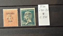 France N°264 - 265  *  - BIT - Cote : 23 Euros - Neufs