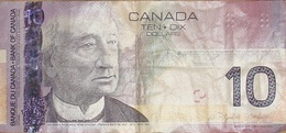 Billet 10 Dollars Canadiens état D'usage - Canada