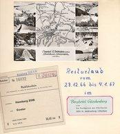 Urlaub ANDREASBERG Im Oberharz 1966 - 4 Albumseiten Mit Reiseansichten Prospekte AK's Rechnung Liftkarte Foto - Reiseprospekte