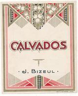 Etiquette - Eau De Vie Du CALVADOS - J. BIZEUL - Labels