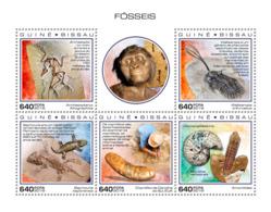 Z08 GB181001a Guinea Bissau 2018 Fossils Dinosaurs Prehistoric MNH ** Postfrisch - Guinea-Bissau