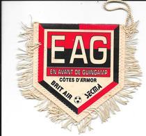 Fanion Tissu En Avant Guingamp Football Cote D'armor Eag Brit Air Secma - Ecussons Tissu