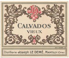 Etiquette - Eau De Vie , CALVADOS Vieux - LE DEME à Mantilly, Orne - Labels