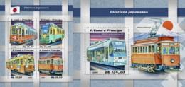 Z08 ST18520ab Sao Tome And Principe 2018 Japanese Trains MNH ** Postfrisch Set - São Tomé Und Príncipe
