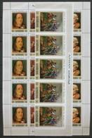Ajman - 2667/ N° 1028/1030 Word Fair Philadelphia 1976 Franklin Usa Feuille Complète (full Sheet) X5 ** MNH - Ajman