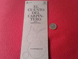 SPAIN MARCAPÁGINAS BOOKMARK BOOK MARK TROQUELADO PAPEL CARTÓN CON FIGURA TROQUELADA EL CUENTO DEL CARPINTERO KIRICO BICI - Marcapáginas