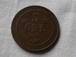 Suede  5 Ore 1898  Km#757- Variété 7 Degres Sur La Couronne -  TTB+ - Suède