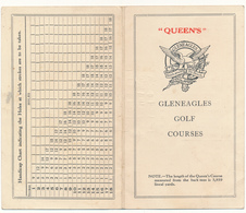 GOLF - Dépliant - Gleneagles, Queen's - Golf