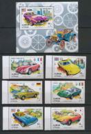 Ajman - 2503/ N° 956/961 A + Bloc 291 A Voiture (Cars) Sport Cars ** MNH - Ajman