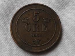 Suede  5 Ore 1883 Km#736 -  Bronze -  TTB+ - Suède