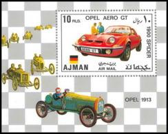 Ajman - 2505/ Bloc N° 320 A Voiture (Cars) German Racing Cars ** MNH - Voitures