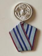Medalla 15 Años De Servicio En Fuerzas Armadas Del Ejército Búlgaro. Bulgaria Comunista. Años '70. Ejército Búlgaro - Medallas Y Condecoraciones
