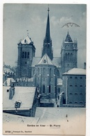 Genève : Eglise St-Pierre, En Hiver (Phototypie Co, Neuchâtel, N°9781) - GE Genf