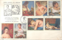 FAMOSAS PINTURAS DE MUJERES DEL MUSEO DEL LOUVRE DE PARIS SERIE COMPLETA CORREO ORDINARIO PARAGUAY MNH TBE - Museos